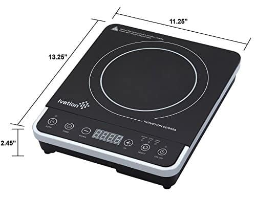 Ivation 1800W Portable Induction Cooktop Burner