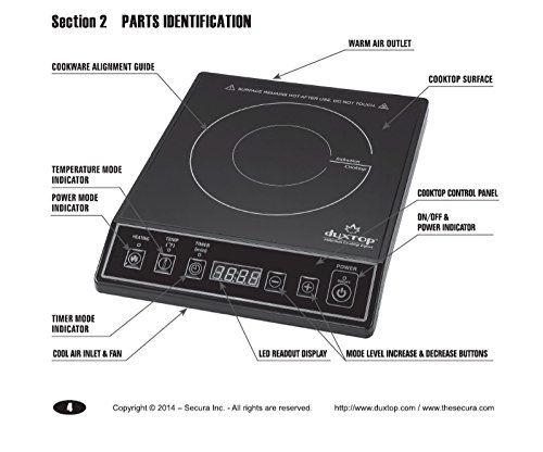 Secura 9100MC 1800W Portable Induction Countertop