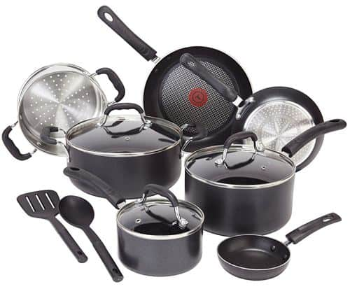T-fal C515SC Professional Total Nonstick Thermo-Spot Heat Indicator Induction Base Cookware Set, 12-Piece